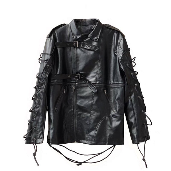 """SHADOW"" 2 IN 1 LEATHER JACKET"