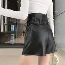 """LEATHER LACED"" SHORTS"
