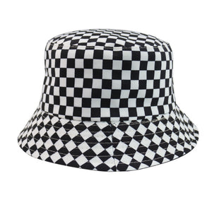 """CHECKERBOARD"" REVERSIBLE BUCKET HAT"