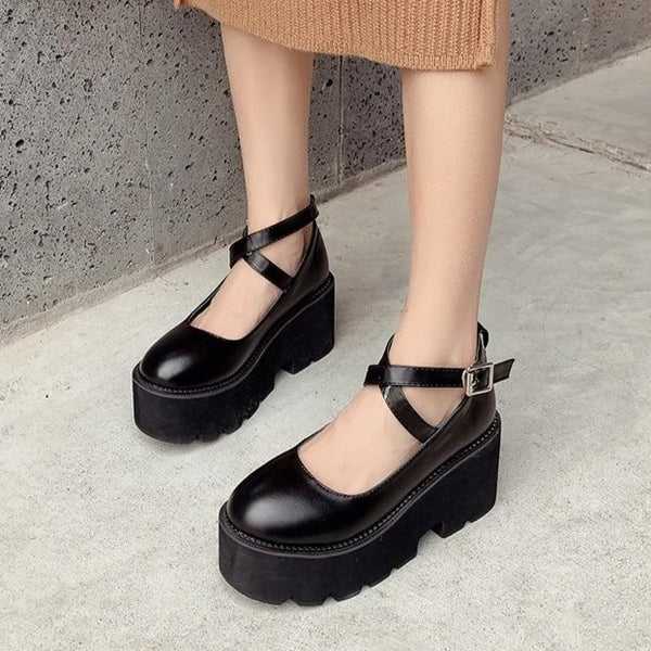 """MARY"" PLATFORM SHOES"