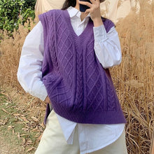 """RETRO PURPLE"" SWEATER VEST"
