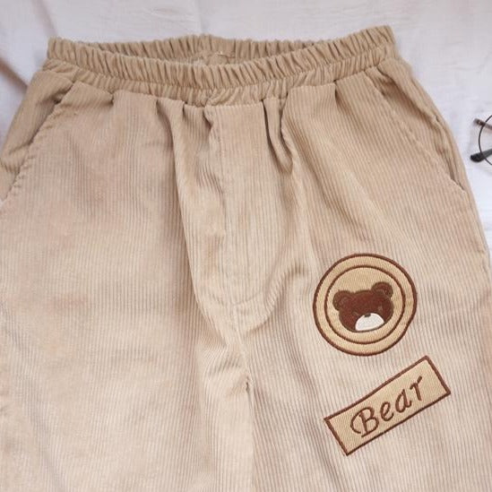 """CORDUROY BEAR"" TROUSERS"