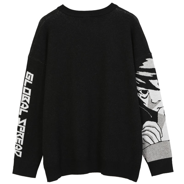 """DEATHNOTE"" PULLOVER SWEATER"