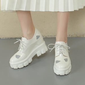 """SILVER HEART"" CHUNKY SHOES"