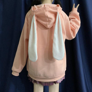 """RABBIT EAR"" ZIP UP HOODIE"