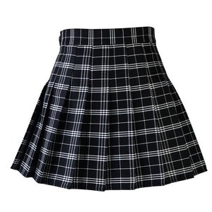 """PLEATED PLAID"" SKIRT"