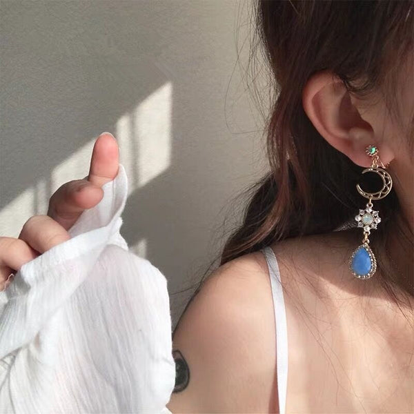"""BLUE MOON"" DROP EARRINGS"