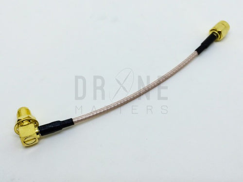 10cm 90-degree Female to Straight Male RP-SMA Extension Cable