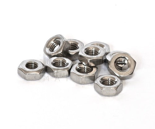 M3 Type 304 Stainless Steel Nuts - 10pc