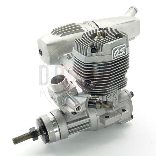 O.S. ENGINES MAX-55AX 2-Stroke Glow Airplane Engine with E-3071 Silencer