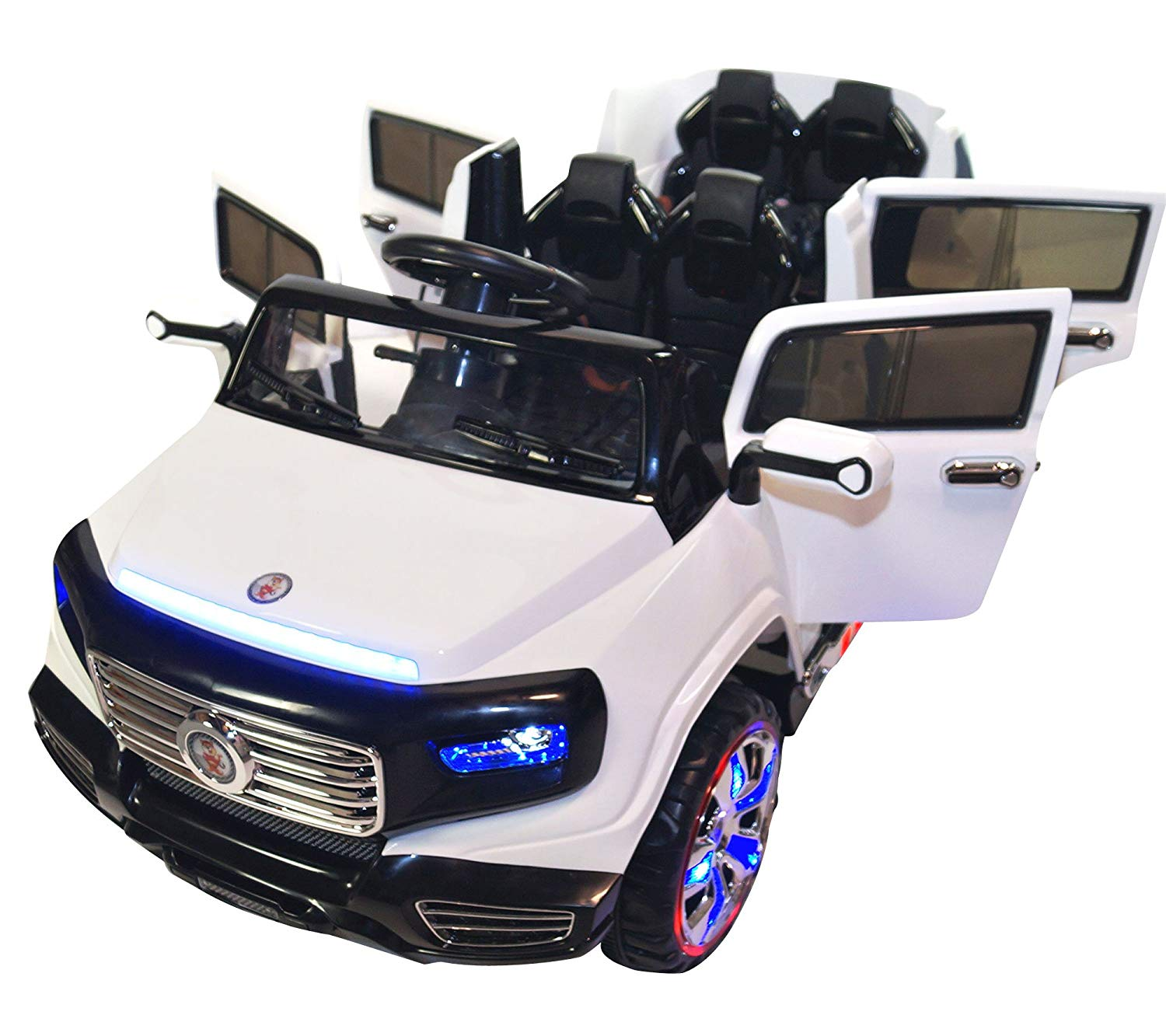 Car For Kids >> Two Seater 4 Door Premium Ride On Electric Toy Car For Kids 12v Battery Powered Led Lights Mp3 Rc Parental Remote Controller Suitable For