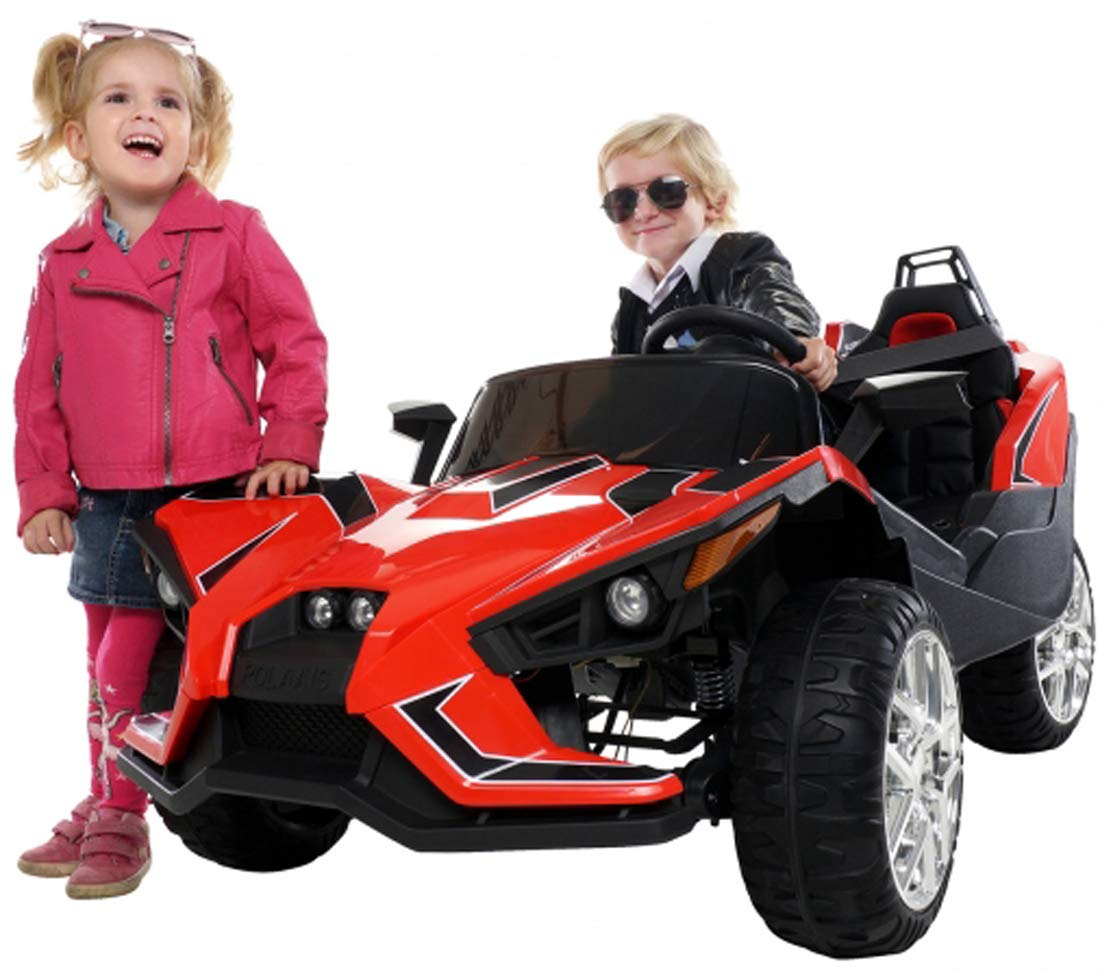 kidone two seater polaris slingshot jc888 ride on electric toy car for kidone store kidone two seater polaris slingshot jc888 ride on electric toy car for kids 12v battery powered mp3 rc parental remote controller leather seats