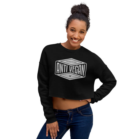 Anti-Vegan Crop Sweatshirt - carnivoreclothingcompany