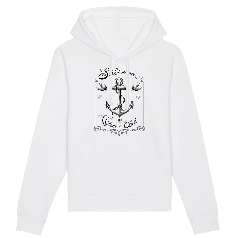 Sweat à Capuche - Sailorman Vintage Club - Coton Bio - Mode éthique-Mets ta Capuche-XS-Blanc-