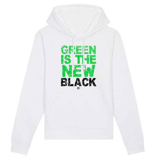 Sweat à Capuche - Green Is The New Black - Unisexe - Coton Bio - Mode éthique-Mets ta Capuche-XS-Blanc-