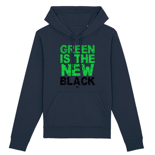 Sweat à Capuche - Green Is The New Black - Unisexe - Coton Bio - Mode éthique-Mets ta Capuche-XS-Marine-