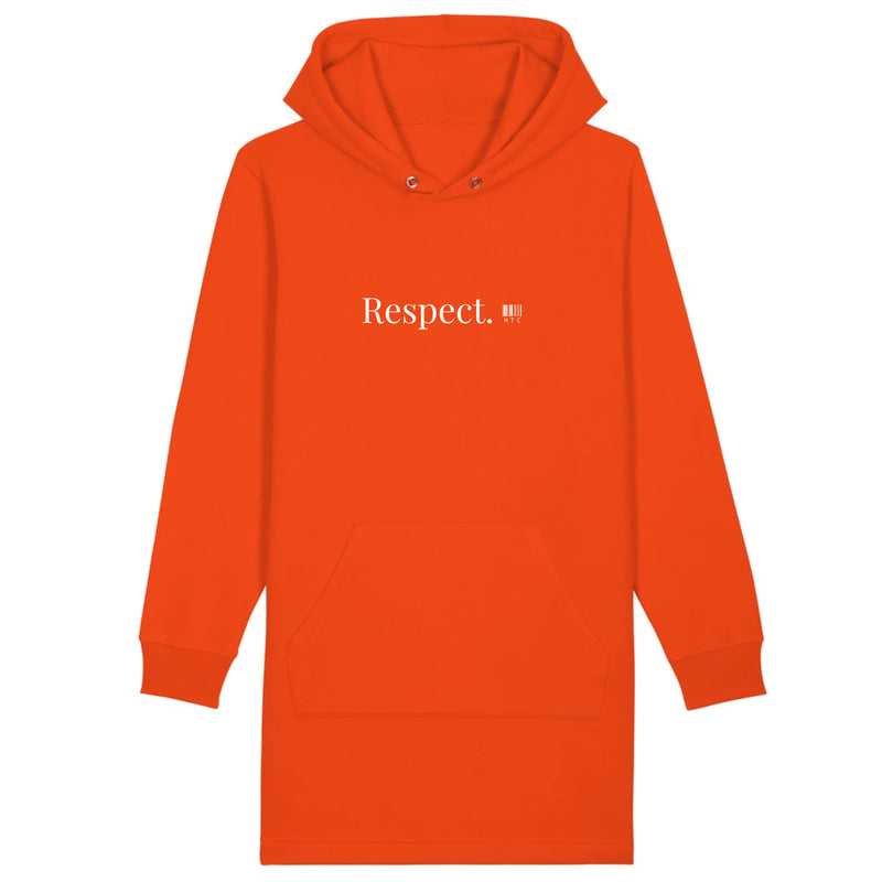 Robe à Capuche - Respect - Coton Bio - Mode Urbaine & Ethique-Mets ta Capuche-XS-Orange-