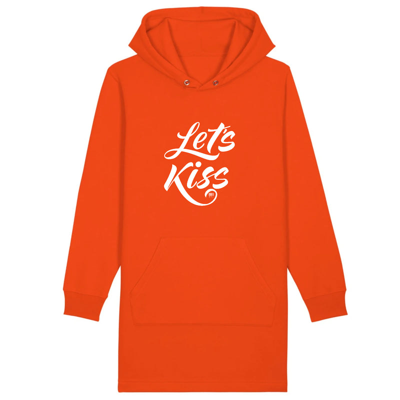 Robe à Capuche - Let's Kiss - Coton Bio - Du XS au XL - Mode éthique-Mets ta Capuche-XS-Orange-