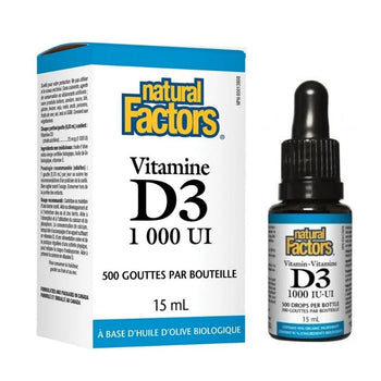 Vitamine D3 (1000 U.I.) - 500 gouttes - 15 ml