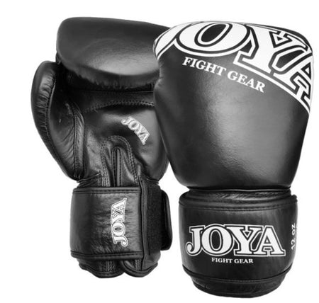 JOYA THAI KICK BOXING GLOVE LEATHER BLACK-Joya-FightShopTurkey