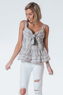 Striped Ruffle Tank