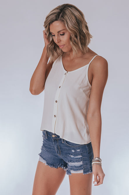 Button-front Cami