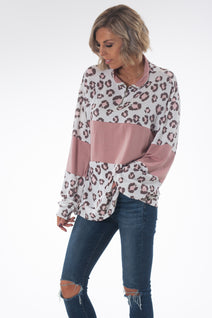 Pretty in Pink Leopard Pullover