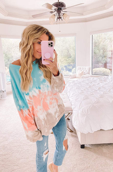 Pops of Color Tie Dye Sweatshirt