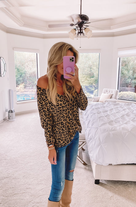 In the Wild Leopard Waffle Knit