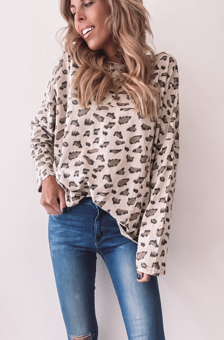 In the Wild Leopard Long Sleeve Tee