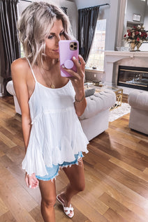 Swing to Me Ruffle Tank