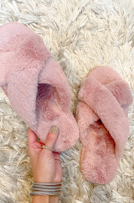 Snuggle Up Faux Fur Slippers