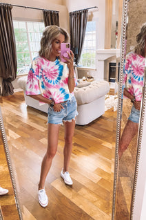 Make a Splash Tie Dye Crop Tee