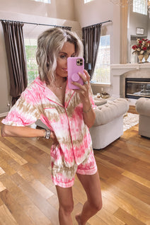 Cozy at Home Tie Dye Pajamas