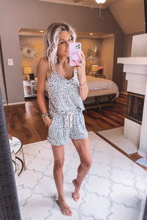 Oh Meow Leopard Cami Set