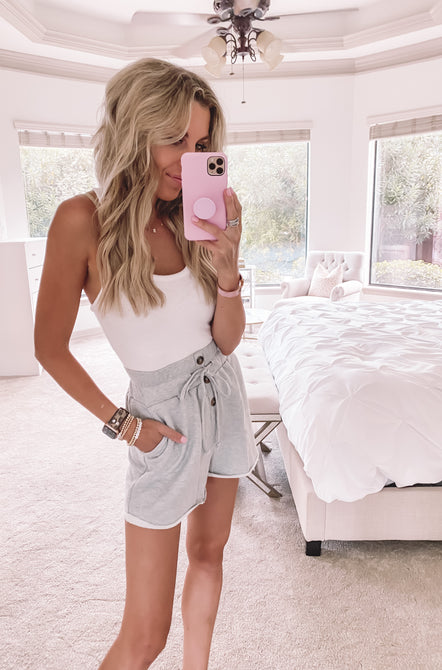 Tied Up High Waist Shorts