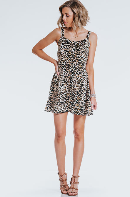 Wild About You Leopard Mini Dress