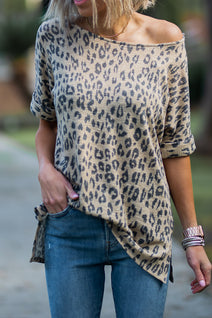 La La Leopard Knit Top