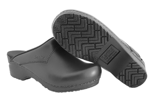 Sanita San Flex chef clogs comfortable black with sole view