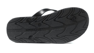 Archline Black Flip Flop Thongs sole