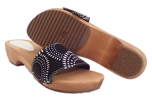Sanita sandals on sale - dina black two with sole
