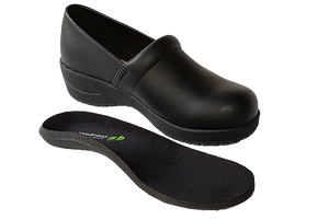 Wellness Faves Shoe - most comfortable nursing shoe with orthotic view