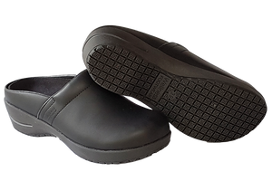 Wellness Faves Open Clog - most comfortable nursing shoe diagonal view with sole