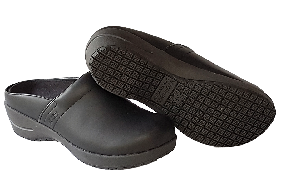 Wellness Faves Open Clog - most comfortable nursing shoe diagonal view