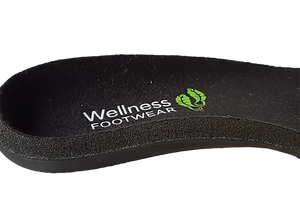Wellness Faves Shoe - most comfortable nursing orthotic close up view