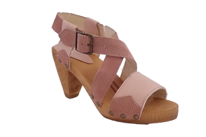 Sanita Izzy Wood Heel Sandals - diagonal