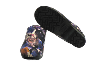 Sanita nurse clogs trixy purple two with sole