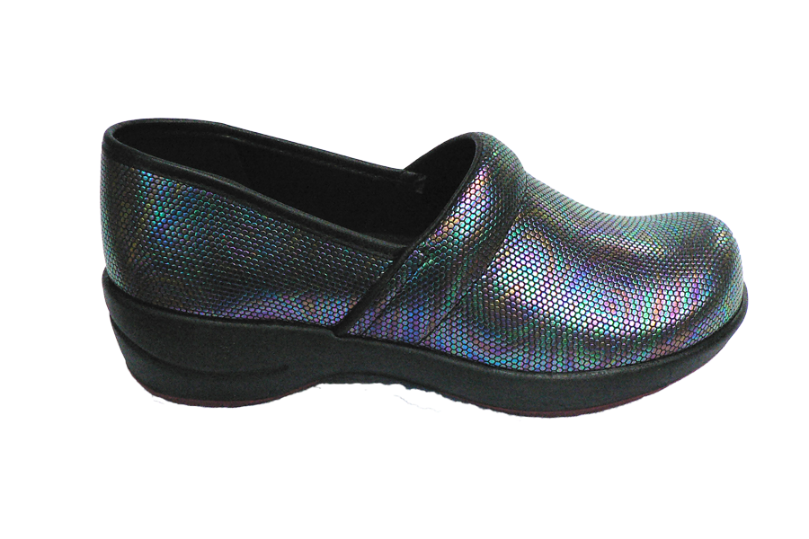 Sanita Waves Shine Closed Comfort Work Shoe diagonal
