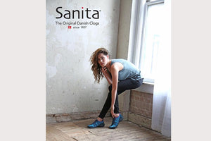 Sanita O2 comfortable walking shoes - girl wearing