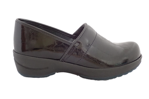 Sanita Wave Faves Patent Closed Comfort Work Shoe - side view